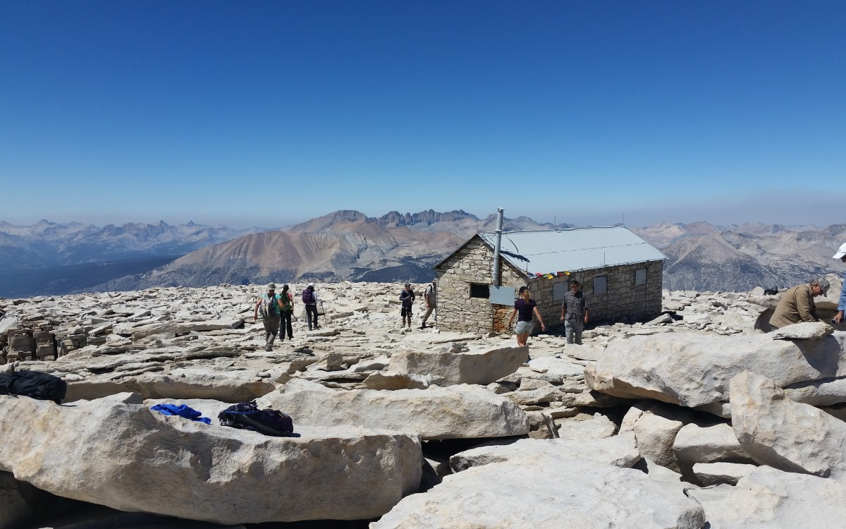 Hanging out on top of Mt. Whitney