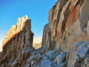 The trail to Mt. Whitney - last mile