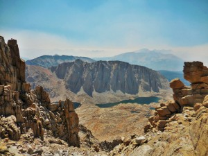 View toward Guitar Lake from Mt Whitney trail