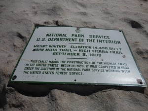 whitney summit plaque small