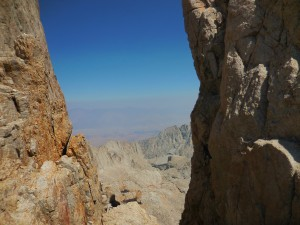 View toward Whitney Portal and Lone Pine
