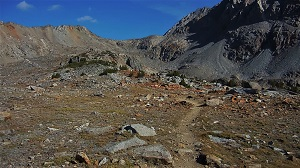 Trail from the south up Pinchot Pass