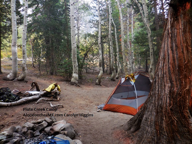 Piute Creek camp near Muir Trail Ranch