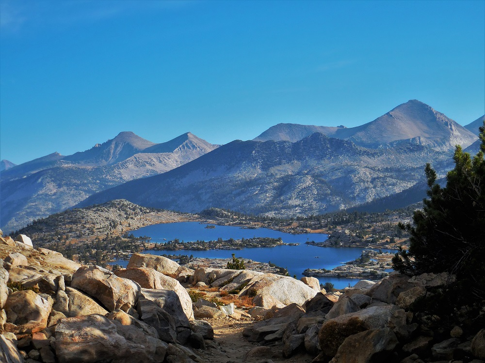 view from selden pass north on the John muir trail