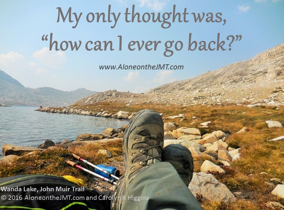 Day 14 John Muir Trail Wanda Lake