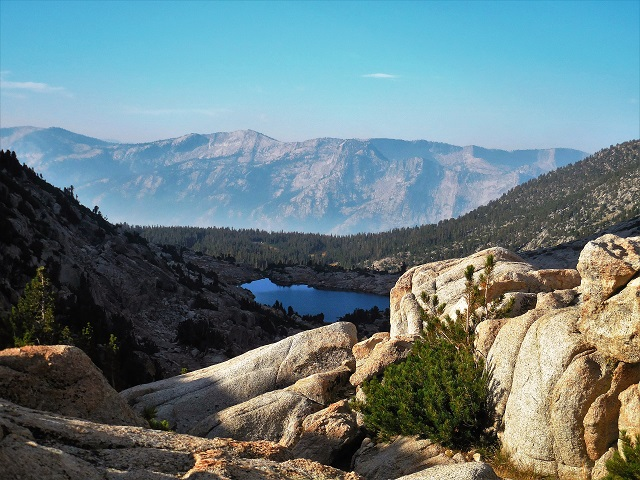 Looking south from Selden Pass on the John Muir Trail